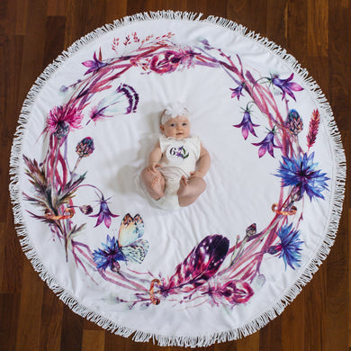 Wildflower Nest - Baby Milestone Blanket GIFT SET