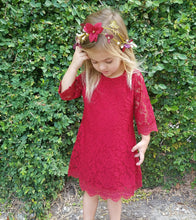 The Crimson Kyla Lace Dress
