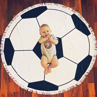 Soccer Milestone Blanket & Sports Milestone Stickers