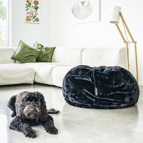 Beanz | Faux Fur | Bean Bag | Black