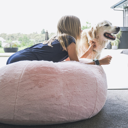 Beanz | Faux Fur | Bean Bag | Light Pink