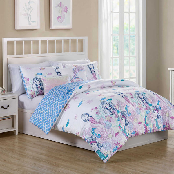 Mermaids Have More Fun ☆ Twin or Full Comforter Set ☆ 5-pc