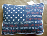 American Flag ☆ Star Spangled Banner Lyric Pillow ☆ 1-pc