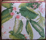 ☆ Tropical Palm Floral ☆ Full/Queen Quilt Set ☆ 3-pc