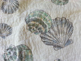 Tropical Seashells ☆ King Quilt Set with Pillows ☆ 9-pc