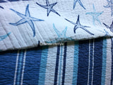 Tropical Starfish ☆ King Quilt with Shams & Sheets ☆ 7-pc