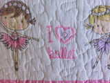 I Love Ballet ❤ Twin Quilt ❤ 1-pc