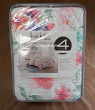 Colorful Floral ☆ Full/Queen Quilt Set ☆ 4-pc