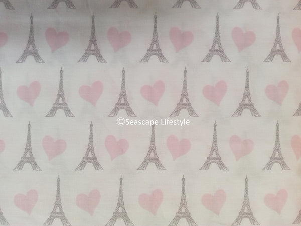 ❤ I LOVE PARIS & HEARTS ❤ Twin Sheet Set ❤ 3-pc