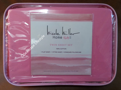 ❤ I LOVE PINK ❤ Twin Sheet Set ❤ 3-pc