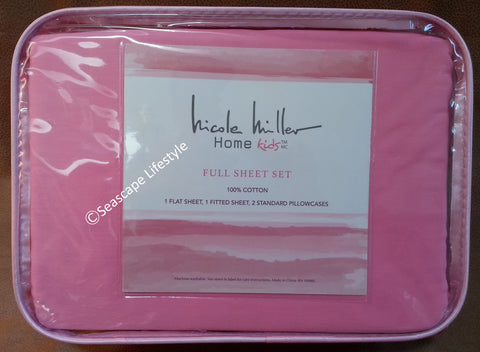 ❤ I LOVE PINK ❤ Full Sheet Set ❤ 4-pc