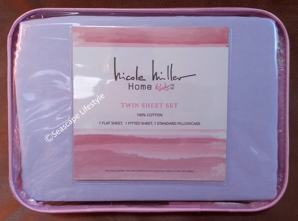 ❤ I LOVE LAVENDER ❤ Twin Sheet Set ❤ 3-pc