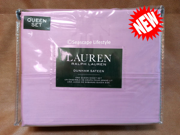 Dunham Queen Sheet Set ☆ LILAC 100% Cotton Sateen ☆ 4-pc