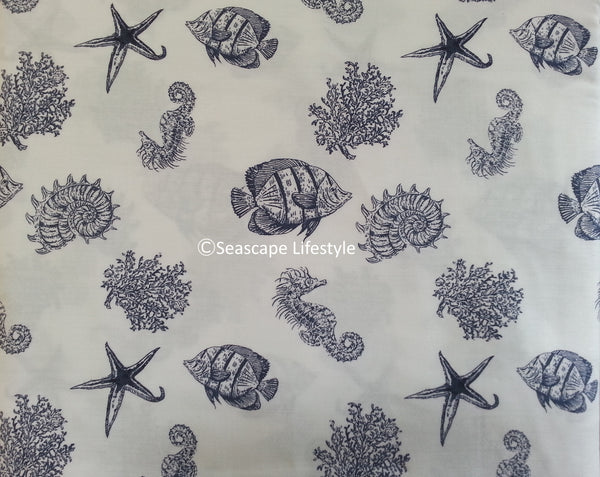 Tropical Marine Life ☆ Queen Sheet Set ☆ 4-pc