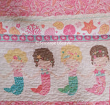 Mermaids Kisses ☆ Twin Quilt with Pillow ☆ 2-pc