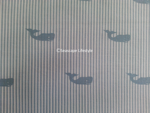Preppy Whales ☆ King Sheet Set ☆ 4-pc