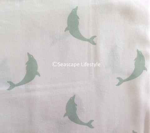 Tropical Dolphins ☆ Queen Sheet Set ☆ 4-pc