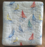 ☆ Sailboats ☆ King Quilt Set ☆ 4-pc