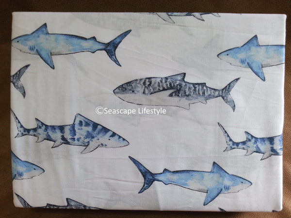 Blue Sharks ☆ Full Sheet Set ☆  4-pc