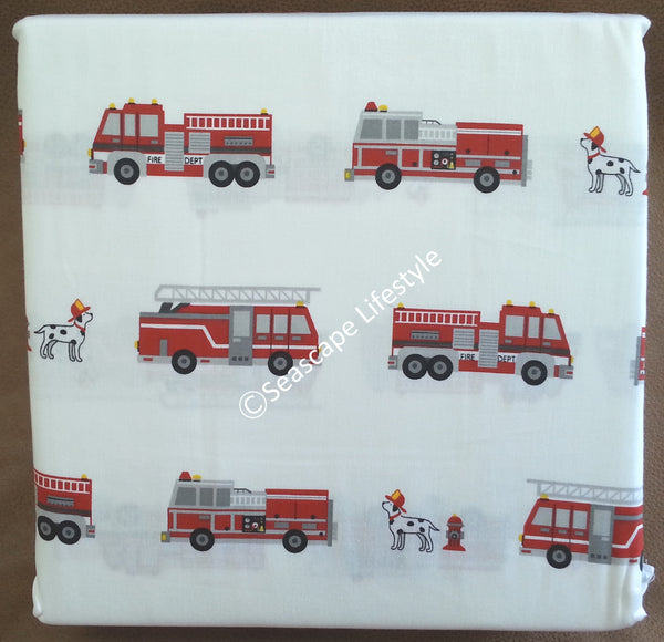 Fire Engines ☆ Full Sheet Set ☆ 4-pc