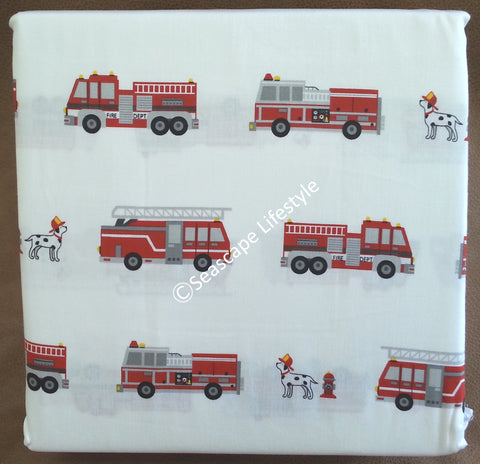 Fire Engines ☆ Twin Sheet Set ☆ 3-pc