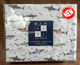 Fun Sharks ☆ Full Sheet Set ☆ 4-pc