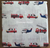 Emergency 911 Vehicles ☆ Full Sheet Set ☆ 4-pc