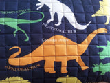 I Love Dinosaurs ❤  Full/Queen Comforter Set with Coverlet ❤ 6-pc