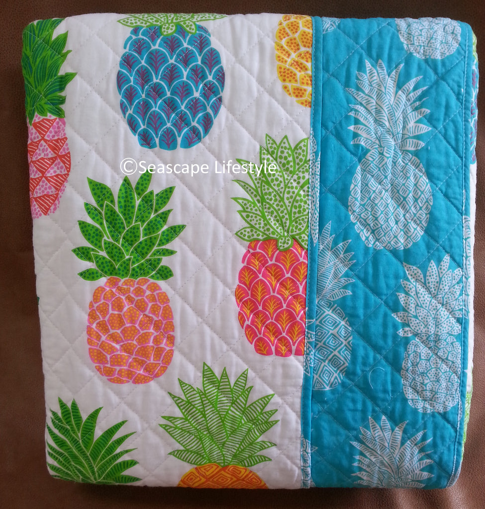 Tropical Pineapple ☆ Twin Quilt Set ☆ 3 Pc Seascape