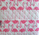 ☆ Tropical Flamingos ☆ Full/Queen Quilt ☆ 2-pc