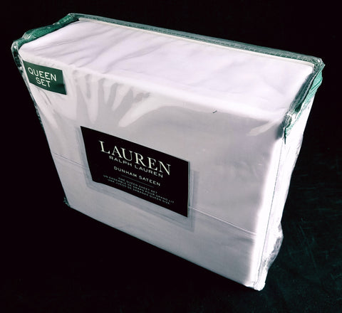 Dunham Queen Sheet Set ☆ HYACINTH 100% Cotton Sateen ☆ 4-pc