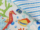 Tropical Caribbean  ☆ Twin Quilt Set ☆ 2-pc