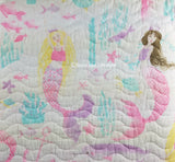 Mermaid Princess ☆ Twin or Full/Queen Quilt ☆ 1-pc