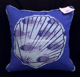 "SEASHELL ☆ Hampton Accessory Pillow ☆ 20"" x 20"" - Feather Insert"