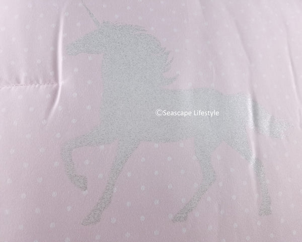 Glittery Unicorns ❤ Full/Queen Comforter Set ❤ 3-pc