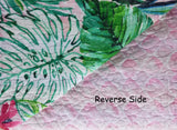 Lush Tropical Landscape ☆ Twin Quilt ☆ 1-pc