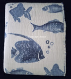 Porcelain Blue Tropical Fish ☆ King Quilt Set ☆ 3-pc