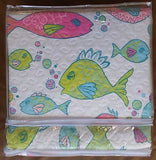 ☆ Whimsical Fish ☆ Full/Queen Quilt Set ☆ 3-pc