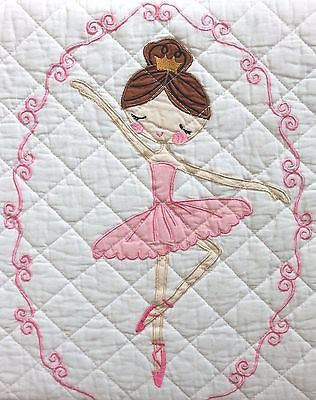 "Cute Ballerinas ☆ ""Lyla Rose"" Twin Quilt Set with Sheet Set ☆ 6-pc"