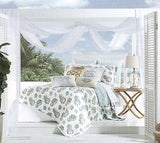 Tropical Seashells ☆ Full/Queen Quilt Set ☆ 3-pc