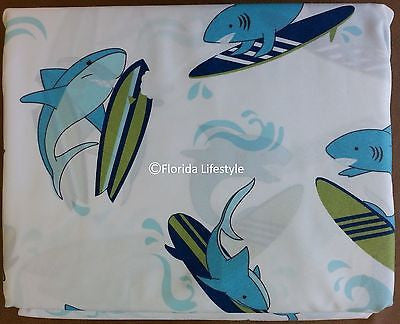 Sharks on Surfboards ☆ Full Sheet Set ☆ 4-pc