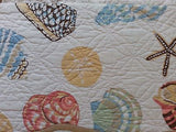 ☆ Tropical Seashell ☆ King Quilt Set ☆ 3-pc