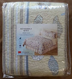 ☆ Tropical Seashells ☆ Full/Queen Quilt Set ☆ 3-pc