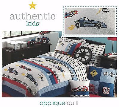 ☆ Race Cars ☆ Twin Quilt ☆ 1-pc