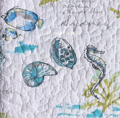 ☆ Tropical Marine Life ☆ Twin Quilt Set ☆ 3-pc
