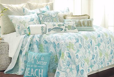☆ Tropical Marine Life ☆ Full/Queen Quilt Set ☆ 3-pc
