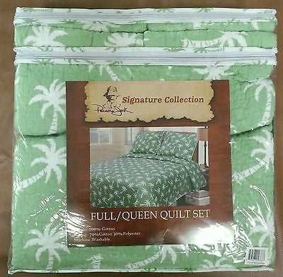 Tropical Palm Trees ☆ Full Queen Quilt Set ☆ 3 Pc