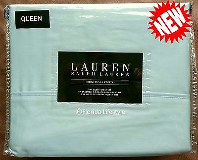 Dunham Queen Sheet Set ☆ CHALET GREEN 100% Cotton Sateen ☆ 4-pc