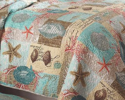 ☆ Tropical Marine Life ☆ Twin Quilt Set ☆ 2-pc