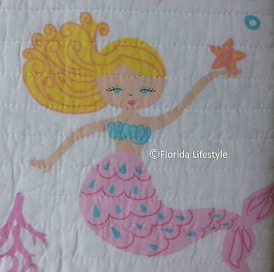 Mermaids ☆ Twin Quilt with Sheet Set ☆ 4-pc